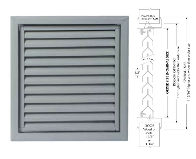 Advantage 4CY Free Flow Door Louver