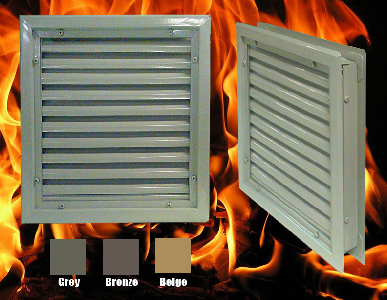 Fusible Link Fire Rated Door Louver
