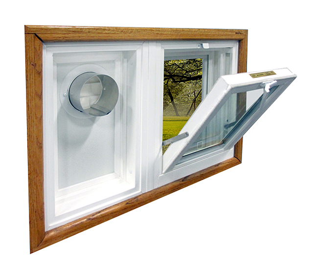 WeatherMaster Hopper Window & Dryer Vent