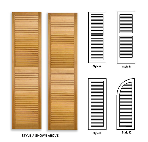Louvered Wood Shutters