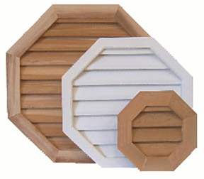 Octagon Wood Gable Vents