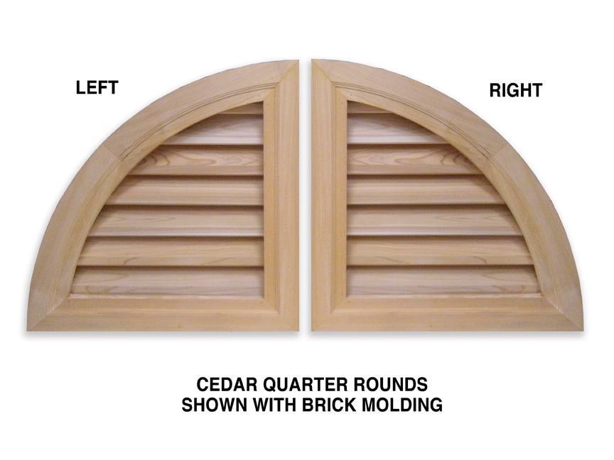 Quarter Round Wood Gable Vents