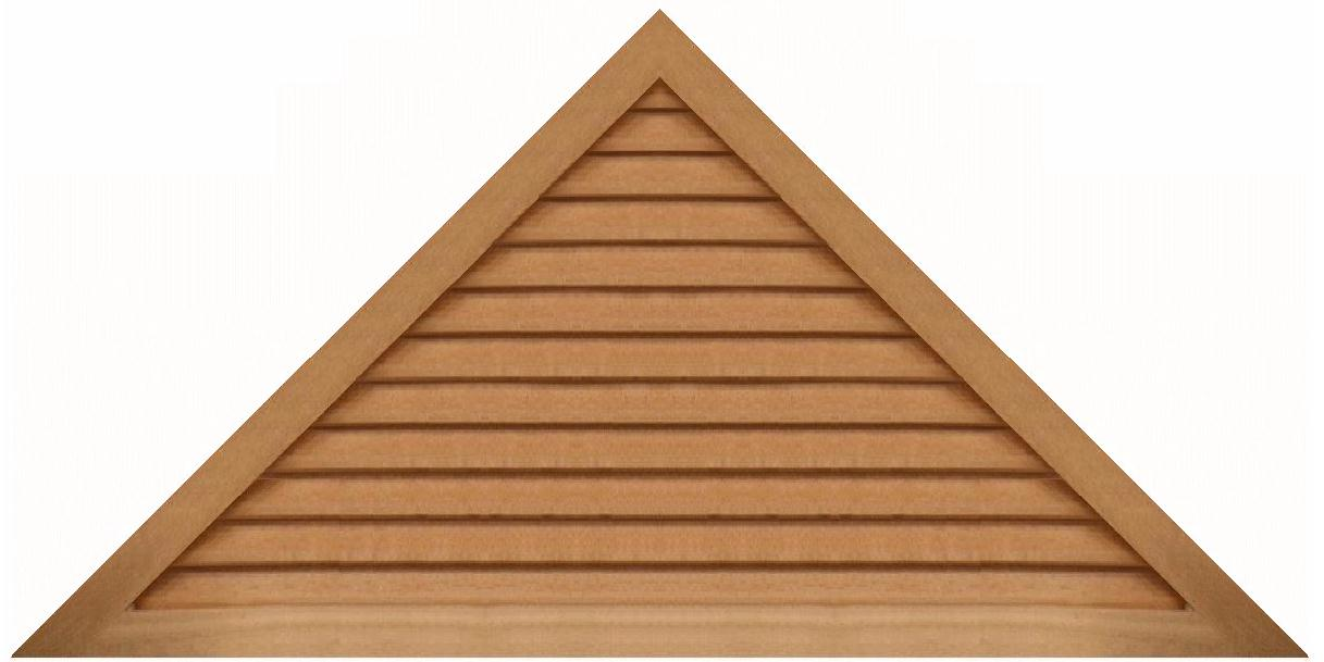 Triangle Wood Gable Vents