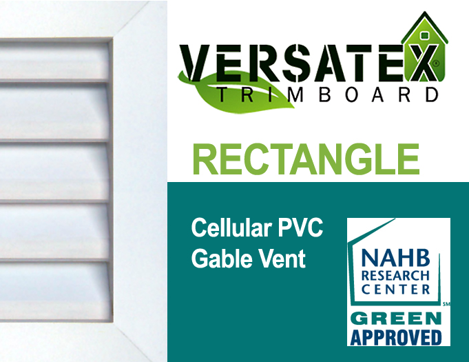 VERSATEX Rectangular Gable Vents