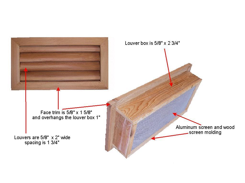Wood Foundation Vents