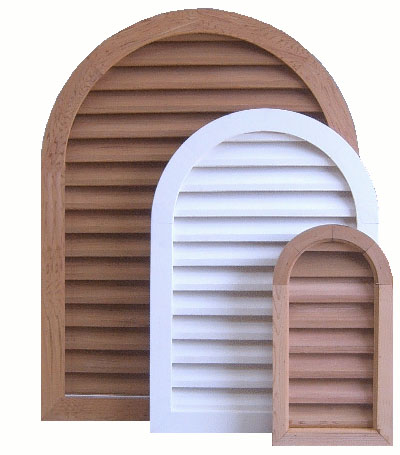 Tombstone/Triangle Top Wood Gable Vents