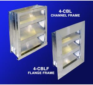 "4-CBL & 4-CBLF 4"" Drainable Chevron Louvers"