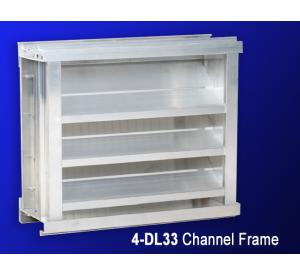 "4"" 4-DL33 & DLF33 Drainable Fixed Louver"