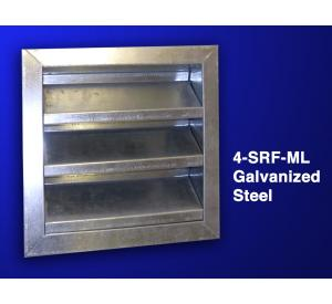 "4"" Fixed Galvanized Steel Louver"