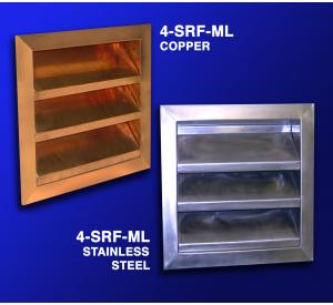 "4"" Fixed Copper or Stainless Steel Louver"