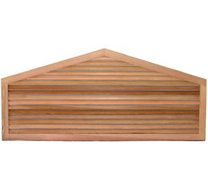 Five Sided Wood Gable Vents