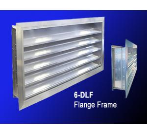 "6"" 6-DL & 6-DLF Drainable Aluminum Louver"