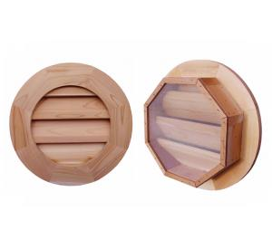 Round Wood Gable Vents