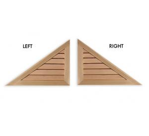 Right/Left Triangle Wood Gable Vent