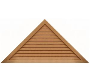 Center Triangle Wood Gable Vents